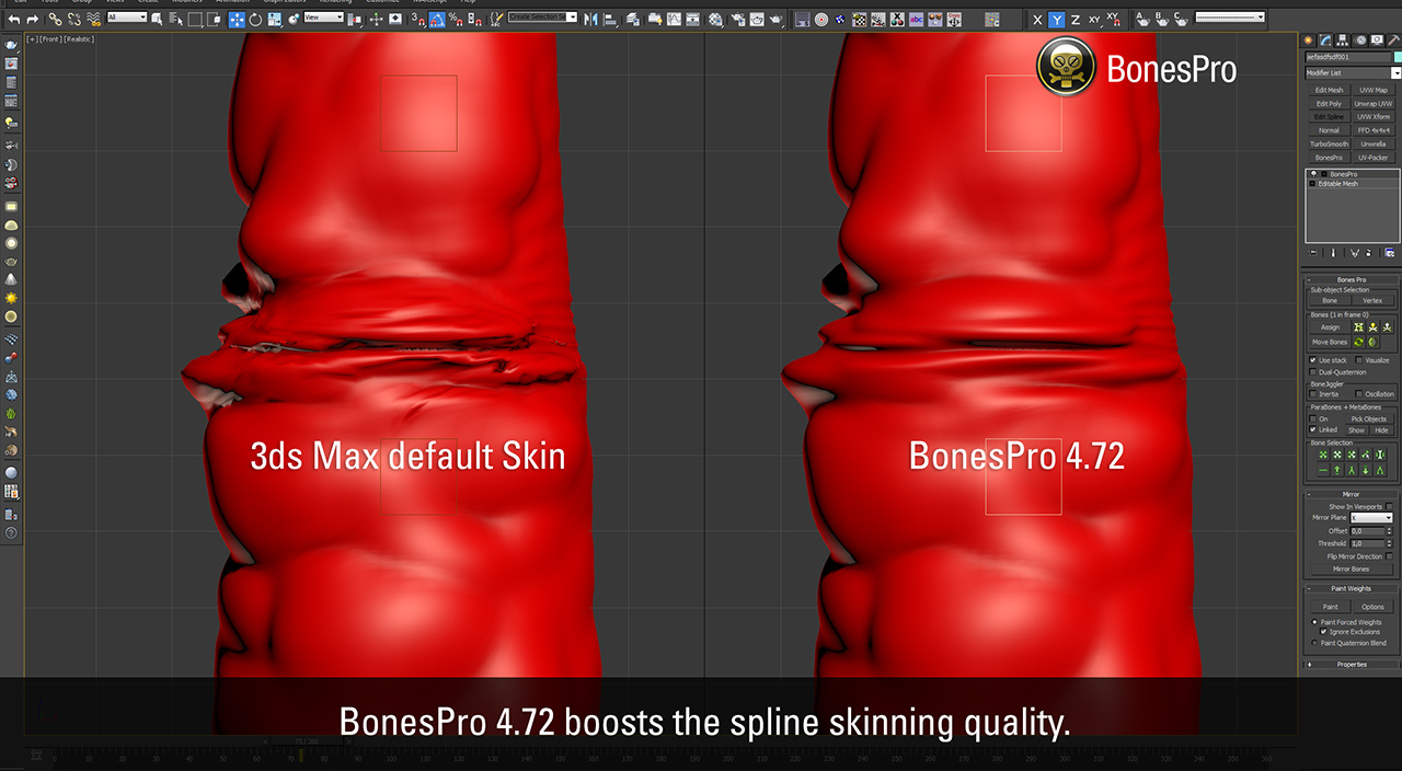 BonesPro quality Spline Skinning